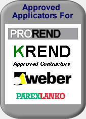 Approved applicators of KREND, weber and parex lanko